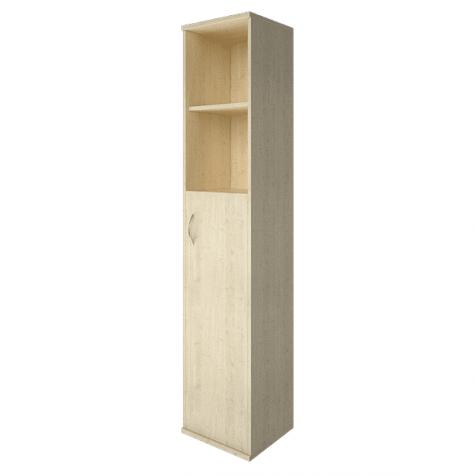 Шкаф высокий узкий 2 полки правый, цвет клен