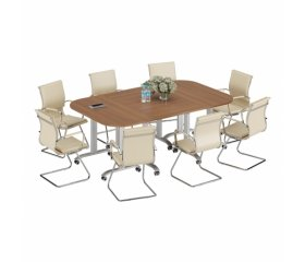 Столы для переговоров цвета орех